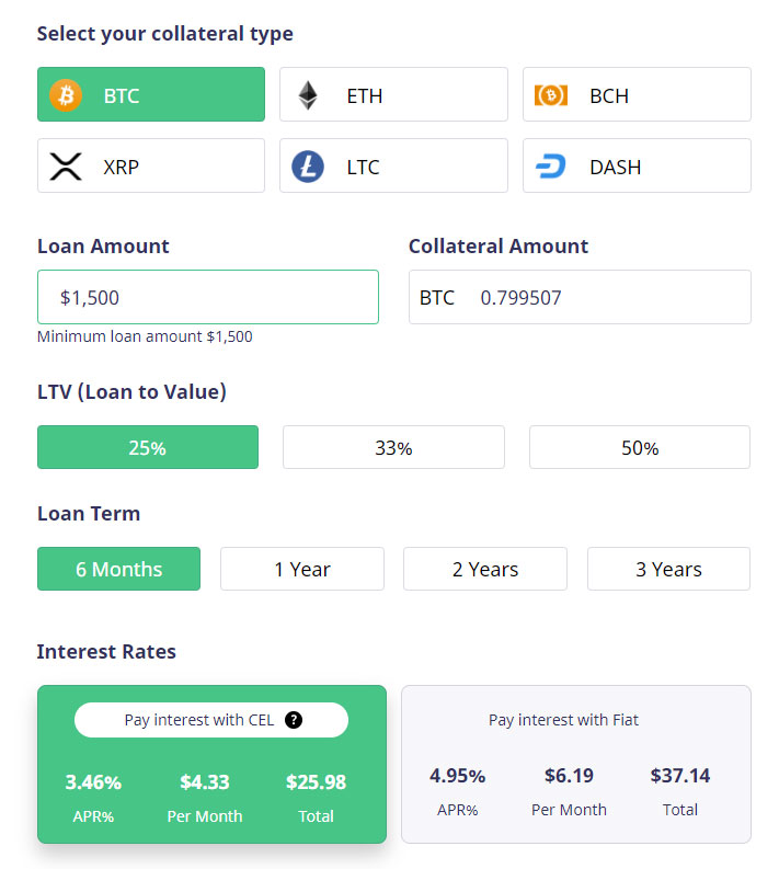 celsius-network-crypto-loan-calculator