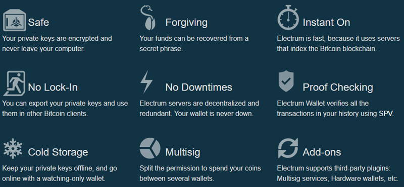funcions electrum-bitcoin-wallet